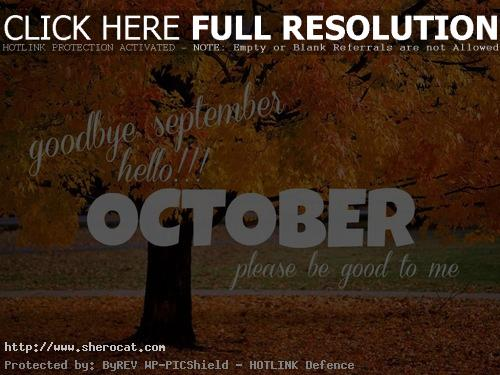 Goodbye September Hello October Pictures Free